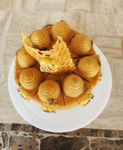 Honey Cake - Honey Bee Cake Soap - Bee Soap - Fake Food - Honey Bee Decor - All Natural Vegan Soap -