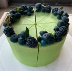 Lemon Blueberry Cake Soap - Lemon Verbena soap - Elegant Soap Display - Handmade ALL Natural Vegan Soap