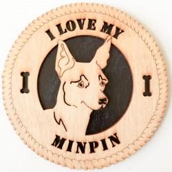 MinPin Dog Plaque
