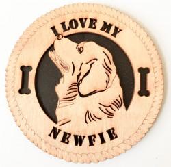 Newfie Dog Plaque