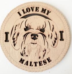 Maltese Dog Plaque