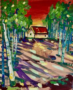"""Sunset"" by Washington artist Daniel Nie"