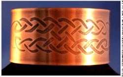 Celtic Copper Cuff Bracelet with Celtic Knot Pattern