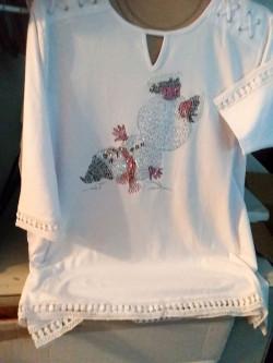 crochet black and white snowman